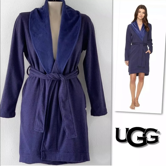 UGG Other - UGG BLANCHE BLUE HEATHER FLEECE LINED ROBE SZ S